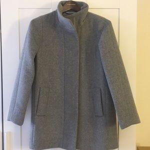 J. Crew Factory City Coat - Size 4P/ Grey